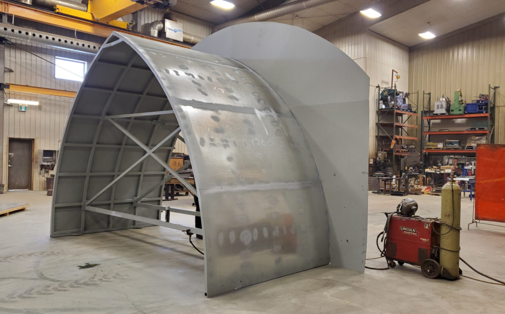 primed galvanized steel snow structure